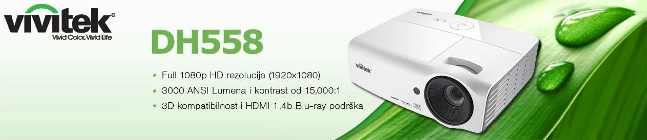 3D kino projektor Vivitek DH558 hd projektor kino projektor kućna kina projektori dlp tehnologija kino vivitek 3d