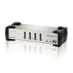 Aten CS1734B, 4-Port USB 2.0 KVMP™ Switch with OSD