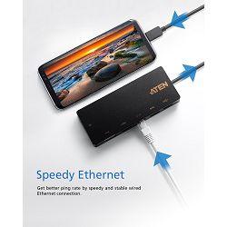 Aten UH3236 USB-C Multiport Mini Dock s Power Pass-Through funkcijom