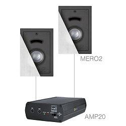 Audio sustav Audac Cerra2.2 (Pojačalo AMP20, zvučnici MERO2)
