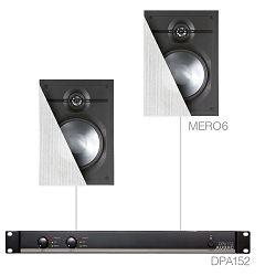 Audio sustav Audac Cerra6.2 (Pojačalo DPA120, zvučnici MERO6)