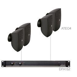 Audio sustav Audac festa4.4 (Pojačalo DPA152, zvučnici ATEO4)