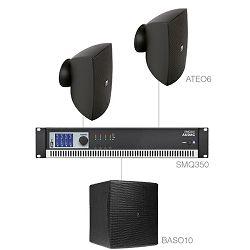 Audio sustav Audac festa6.3 (Pojačalo SMQ350, zvučnici ATEO6, bass BASO10)