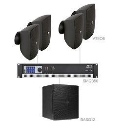 Audio sustav Audac festa6.5 (Pojačalo SMQ350, zvučnici ATEO6, bass BASO12)