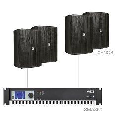 Audio sustav Audac Festa8.4 (Pojačalo SMA350, zvučnici XENO8)