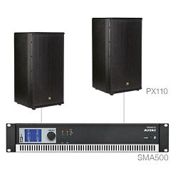 Audio sustav Audac Forte10.2 (Pojačalo SMA500, zvučnici PX110)