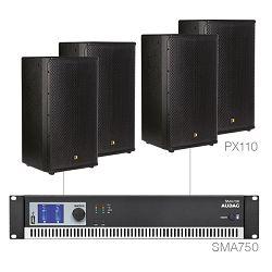 Audio sustav Audac Forte10.4 (Pojačalo SMA750, zvučnici PX110)