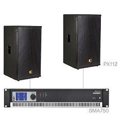 Audio sustav Audac Forte12.2 (Pojačalo SMA750, zvučnici PX112)