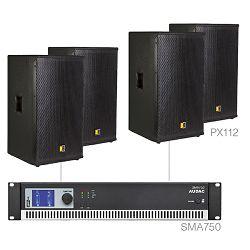 Audio sustav Audac Forte12.4 (Pojačalo SMA750, zvučnici PX112)