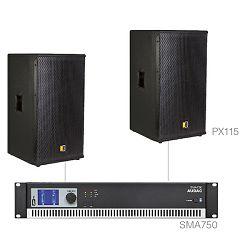 Audio sustav Audac Forte15.2 (Pojačalo SMA750, zvučnici PX115)