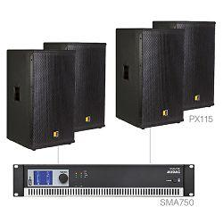 Audio sustav Audac Forte15.4 (Pojačalo SMA750, zvučnici PX115)
