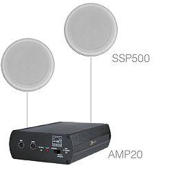 Audio sustav Audac Purra5.1 (Pojačalo AMP20, zvučnici SSP500)