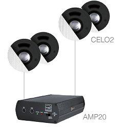 Audio sustav Audac Senso2.4 (Pojačalo AMP20, zvučnici CELO2)