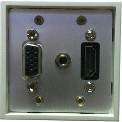 Priključna utičnica LK-1 1xHDMI (ženski), 1xVGA+3,5mm stereo audio (ženski)