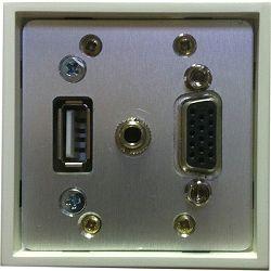 Priključna utičnica LK-2 1xUSB (ženski), 1xVGA+3,5mm stereo audio (ženski)