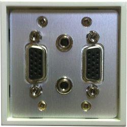 Priključna utičnica LK-4 2xVGA+2x3,5mm stereo audio (ženski)