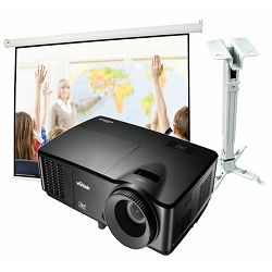 Projektor Vivitek DX255 + nosač + platno + montaža