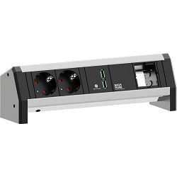 Stolna priključnica Bachmann DESK 1;  2x strujna utičnica, 1x priključak, 1x USB
