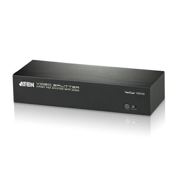 ATEN VS0104, VGA i Audio Razdjelnik s četiri izlaza W/EU ADP